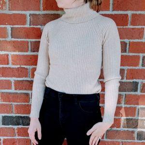 Escada Cashmere Ribbed Turtleneck Sweater